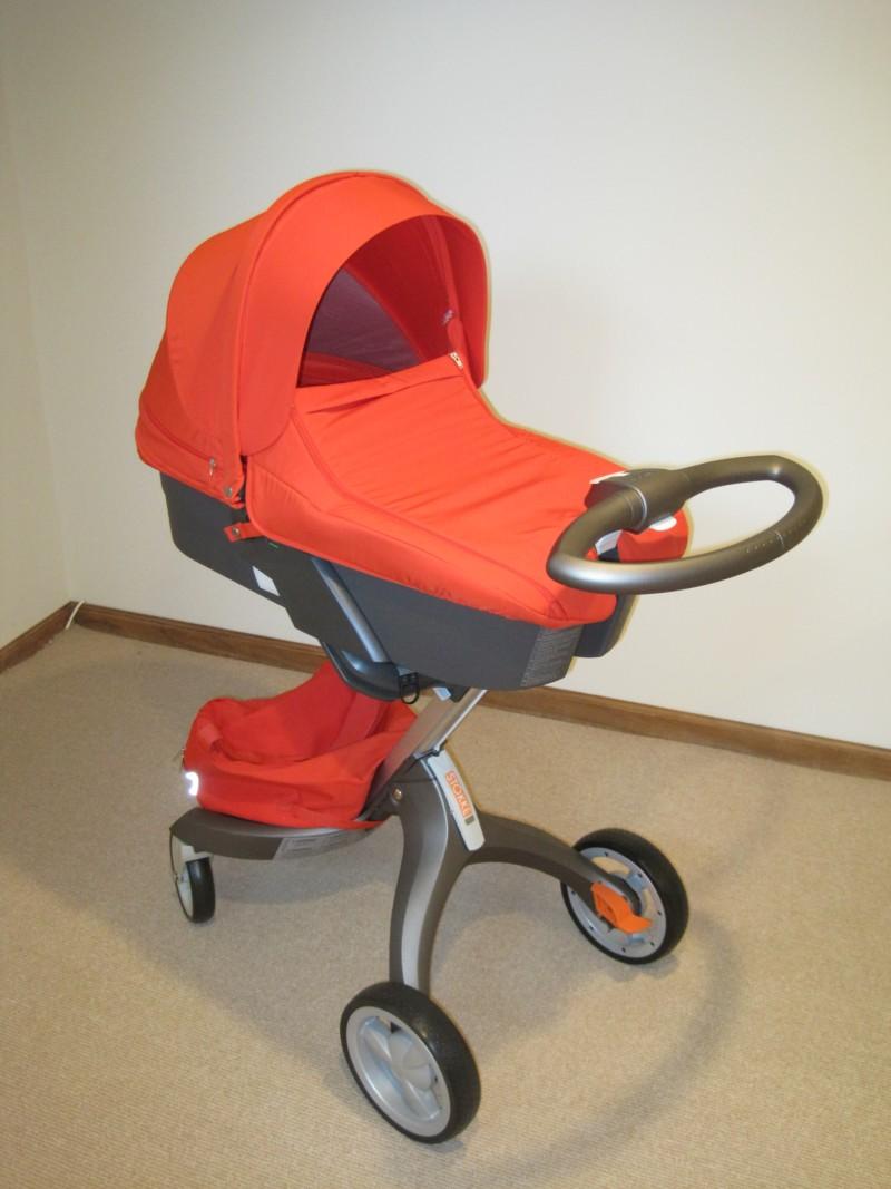 stokke xplory stroller  carry cot review. stokke xplory carry cot